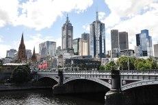 Melbourne vista dal Princes Bridge (foto: Anna Luciani)