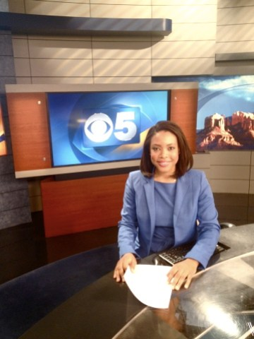 Anna-Lysa Gayle on the anchor desk