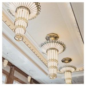 Inspiración de lamparas Art Déco.