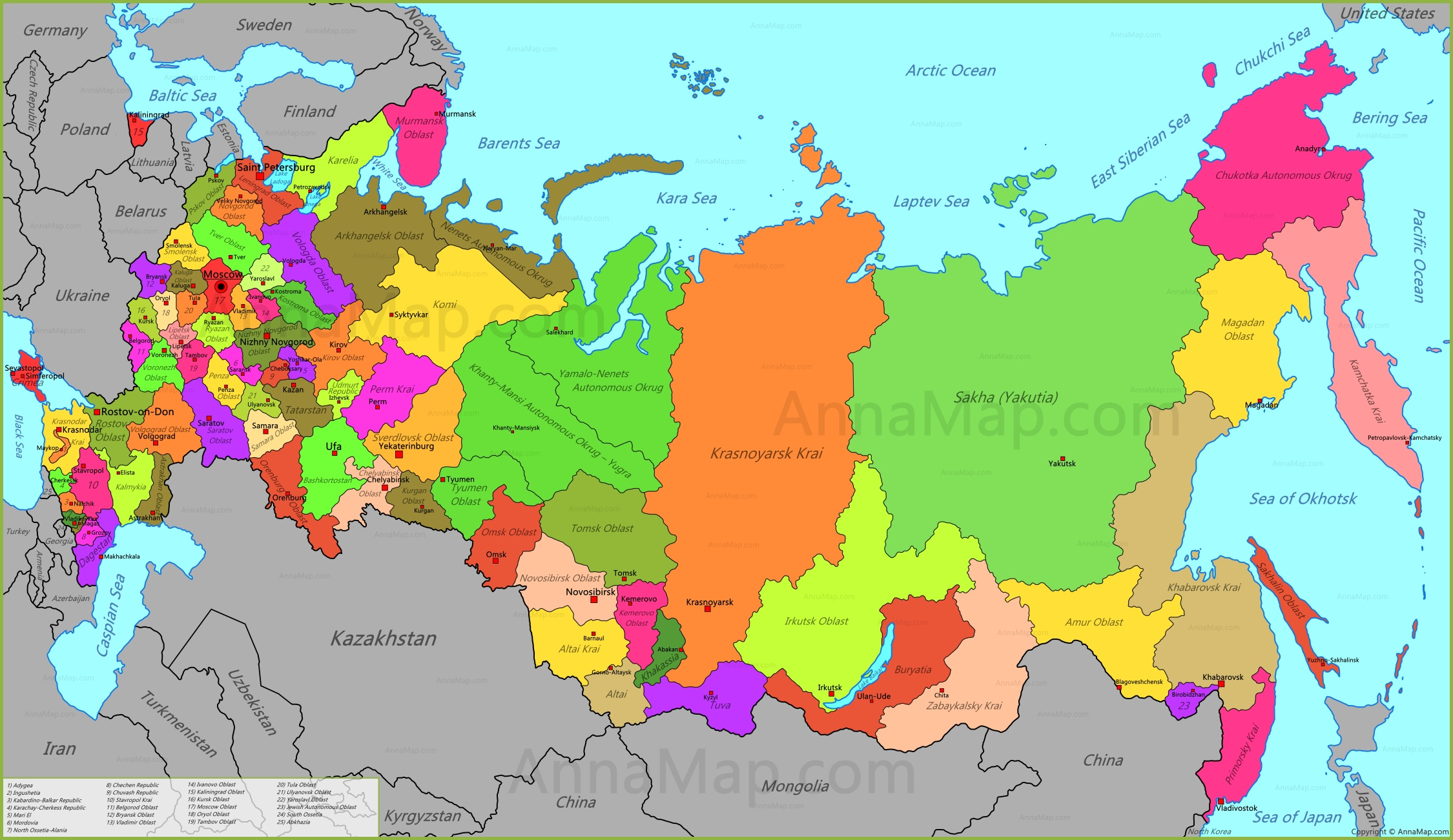 Russia Map Map Of Russia Russian Federation