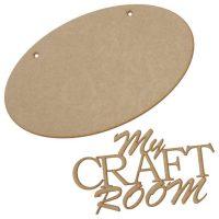 "Wooden ""My Craft Room"" Plaque - Anna Marie Designs"