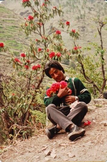 Kusiram Pakhrin in Humla, 1991.
