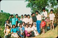 """Samana Cultural Family in Gorkha, 1996, exact date unknown, but after the """"People's War"""" had been announced."""