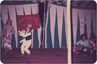 Sharmila Pathak and Nita Sharma, dancing; Khusiram Pakhrin, guitar. Jalandar, Punjab, 1987.