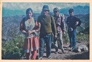 Sisne, Gorkha. Khusiram Pakhrin's birthplace, 1991. Sharada Shrestha, Khusiram Pakhrin, unknown, Suman Gajmer.