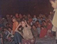 Chitwan Cultural Family performing an opera in Chandranagar village, Chitwan. Early 1990s.