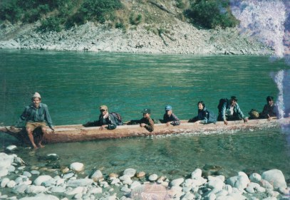 Crossing the Karnali river.