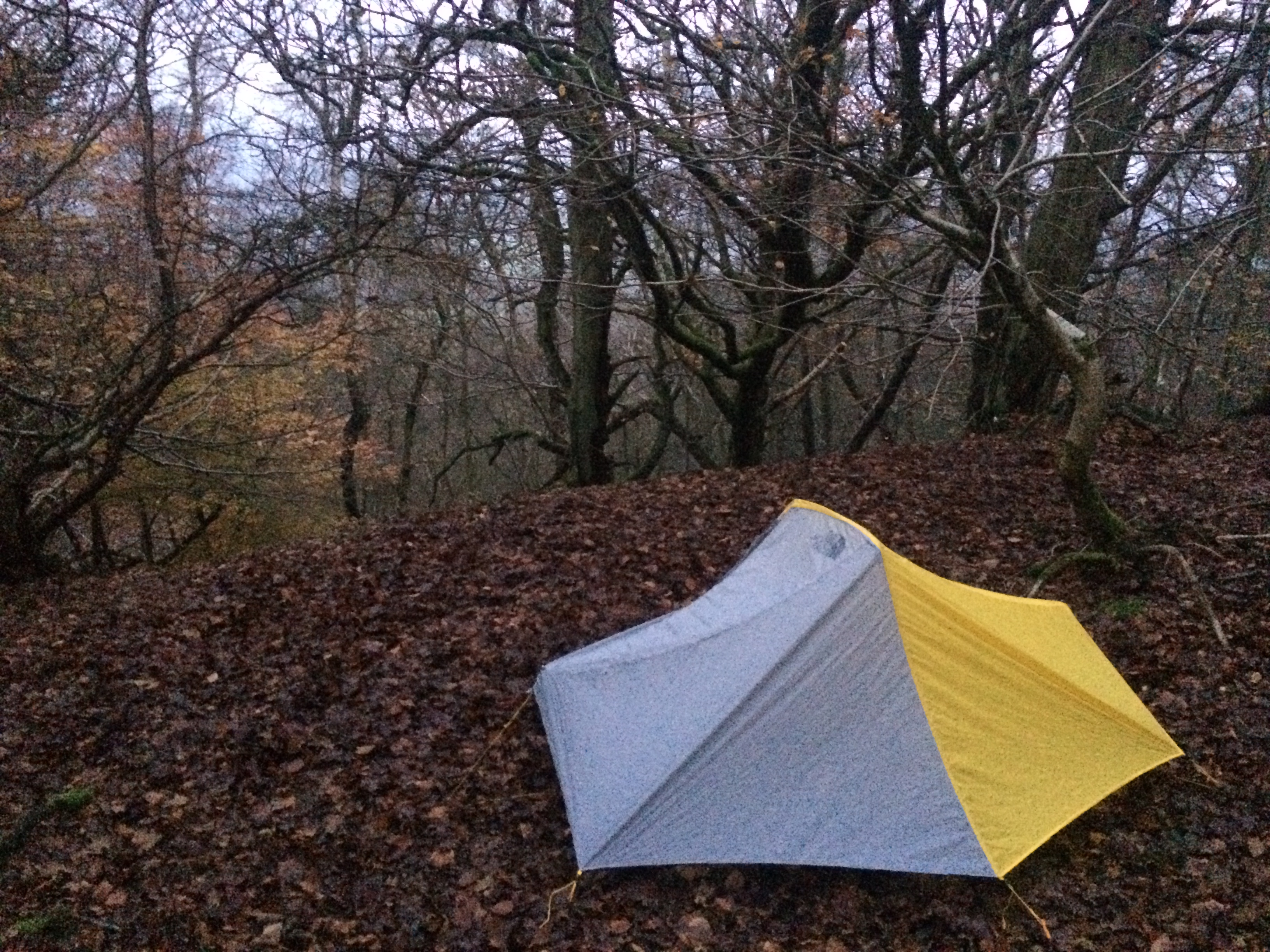 The North Face O2 one man tent (850g and it's like a palace in there)