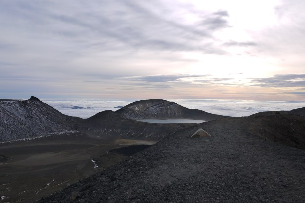 Daybreak at the top of the Tongariro crossing