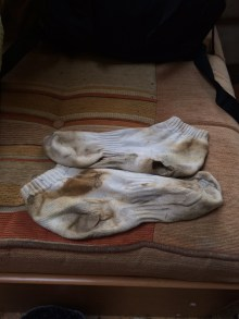 The one pair of socks for the weekend. Oops.