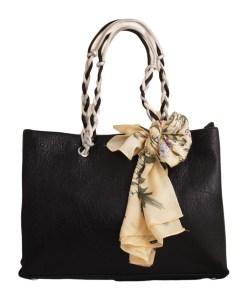 Дамска чанта 01-17-164-30 черна с панделка