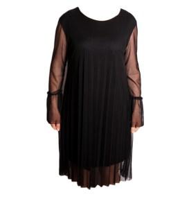 Дамска спортна рокля 018-313-3 черна