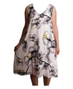 Дамска спортна рокля 018-313-2 цветя