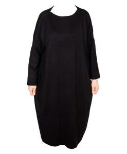 Дамска рокля XL 18-191-81 цвят черен