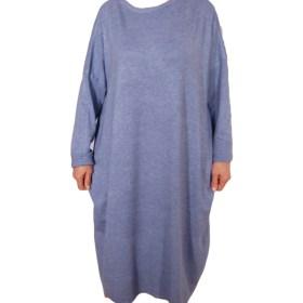 Дамска рокля XL 18-191-83 цвят син