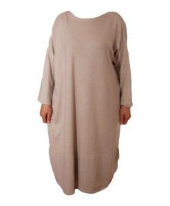 Дамска рокля XL 18-191-88 цвят светло бежов