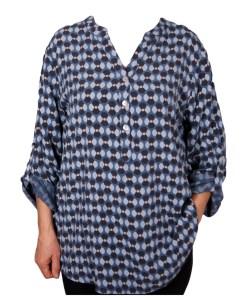 Дамска блуза XL 119-255-1 цвят син
