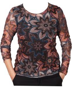 Дамска блуза 00-577-2 на цветни фигури