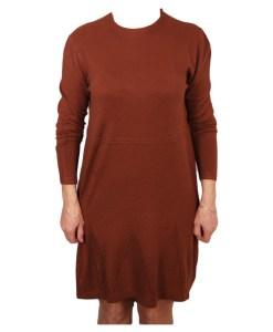 Дамска рокля 017-197-13 цвят кафяв