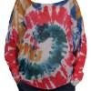 Дамски пуловер 2-400-1 цветна спирала
