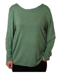 Дамски пуловер 2-400-51 цвят зелен