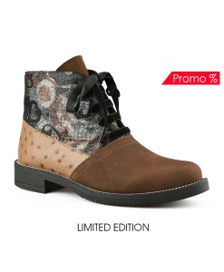 Дамски обувки естествена кожа 08-180-5 цвят кафяв