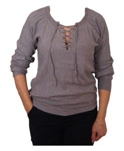 Дамски пуловер 2-390-81 цвят сив