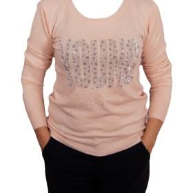 Дамски пуловер 2-390-93 цвят розов