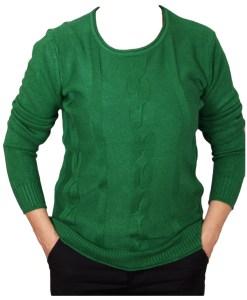 Дамски пуловер 2-400-73цвят зелен
