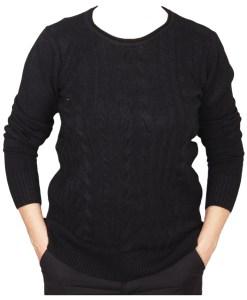 Дамски пуловер 2-400-80цвят черен