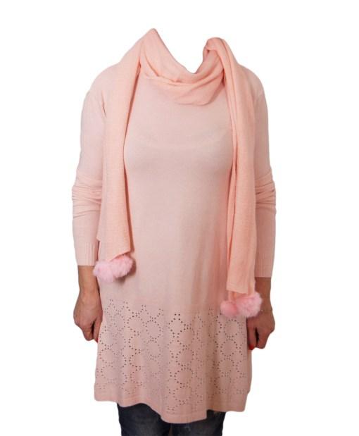 Дамски пуловер 2-389-51 цвят розов