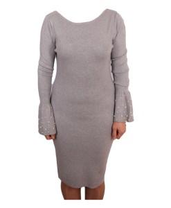 Дамска рокля 017-196-72 цвят сив