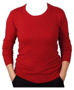 Дамски пуловер 2-387-66 цвят червен