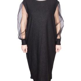 Дамска рокля XL 18-190-62 цвят черен