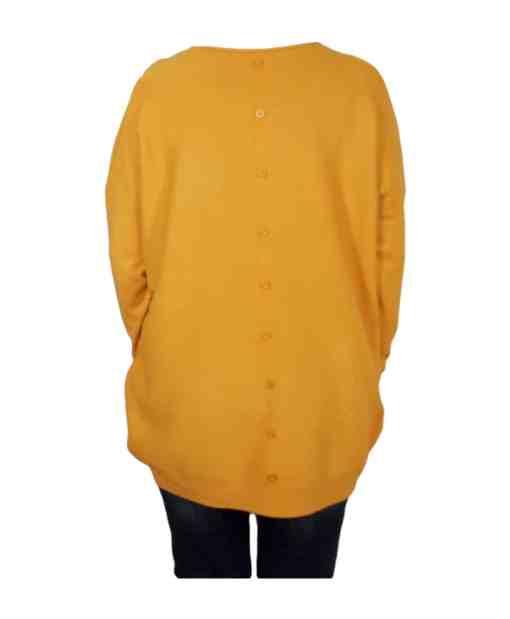 Дамски пуловер XL 2-390-3 цвят горчица