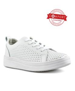 Дамски обувки естествена кожа 08-179-40 цвят бял