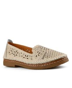 Дамски обувки естествена кожа 08-179-92 цвят бежов