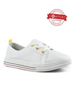 Дамски обувки естествена кожа 08-179-3 цвят бял