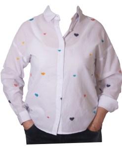 Дамска блуза 00-576-4 със сърца