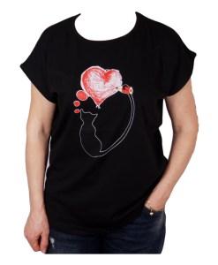 Дамска блуза 01-209-14 цвят черен