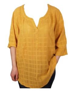 Дамска блуза XL 119-253-21 цвят жълт