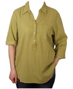 Дамска блуза XL 119-253-1 цвят зелен