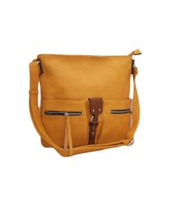 Дамска чанта 002-694-82 цвят горчица