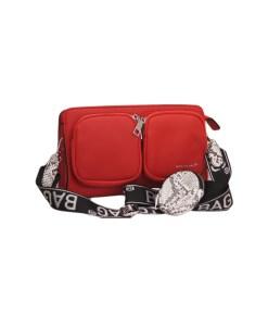 Дамска чанта 002-694-97 цвят червен