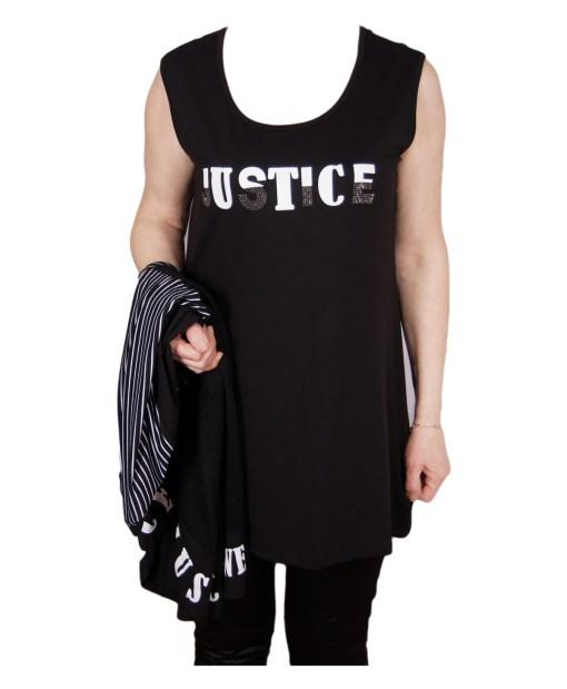 Дамска блуза XL 119-252-3 цвят черен