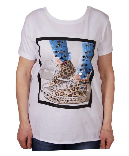 Дамска блуза 0019-565-23 цвят бял