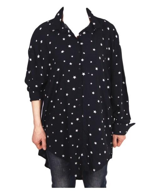 Дамска блуза XL 119-250-52 цвят син