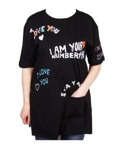 Дамска блуза 0019-564-50 цвят черен