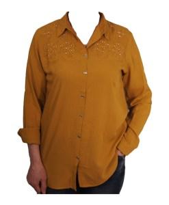 Дамска блуза 00-574-73 цвят горчица