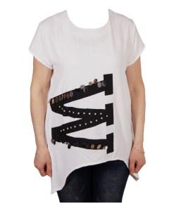 Дамска блуза 0019-563-5 цвят бял